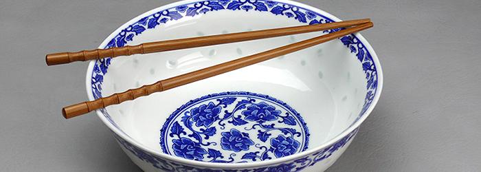 Porzellan Reisschalen & blau weiß Geschirr