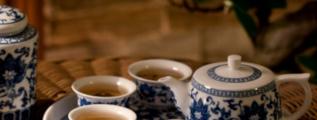 Chinesische Teeservice aus Porzellan