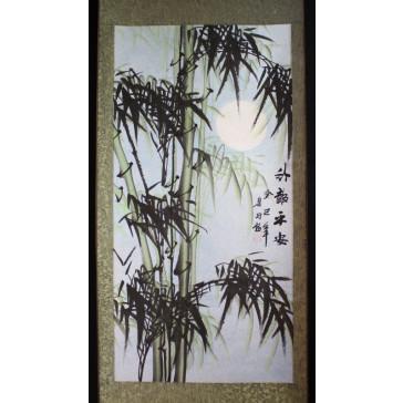 """Bildrolle """"Bambus im Mondschein"""" (links)"""