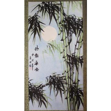"""Bildrolle """"Bambus im Mondschein"""" (rechts)"""