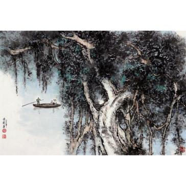 """Peng Guo Lan """"Banyan-Baum"""", chinesische Malerei"""