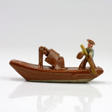 "Bonsai-Figur ""Dschunke"", Fischerboot"