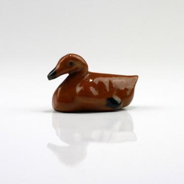 """Keramikfigur """"Ente"""", Bonsai-Deko"""