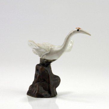 "Bonsai-Figur ""Kranich"", Keramikfigur"