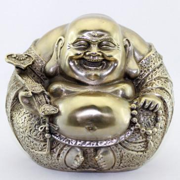 Budai Buddha-Figur Messing 12,5 cm