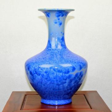 China Vase Kristallglasur Porzellan blau