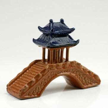 Asiatische Pavillonbrücke, Gartendeko Bonsai-Keramik
