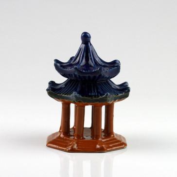 Bonsai-Deko chinesischer Pavillon, Keramikfigur