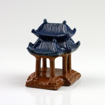 """Bonsai-Figur """"Kaiserpalast"""", chinesische Keramik-Deko"""