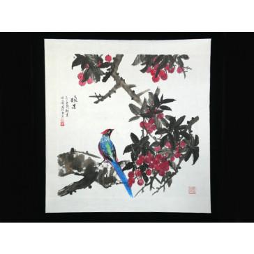 "Chinesische Malerei ""Prachtvolle Reife"", Peng Guo Lan"
