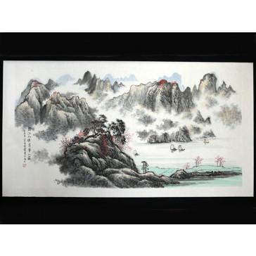 """Chinesische Malerei """"Spiegelsee"""", Peng Guo Lan"""