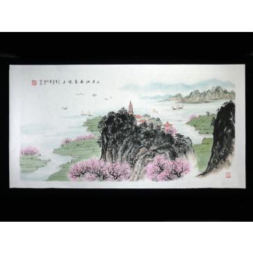 """Chinesische Malerei """"Südlich des Yangtse"""", Peng Guo Lan"""