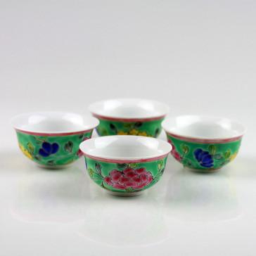 "Teeschalen ""Baba-Nyonya"", 4-teiliges Teetassen-Set"