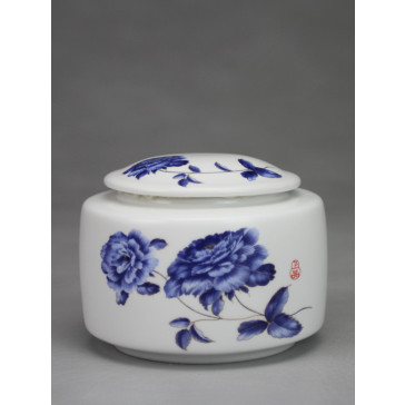 "Chinesische Teedose ""Blühende Chrysanthemen"""