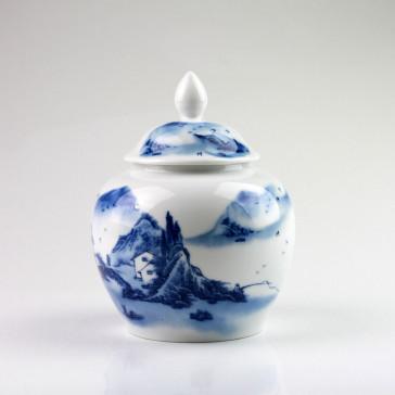 Teedose Porzellan mit Aromaverschluß, Chinesische Teeurne (groß)