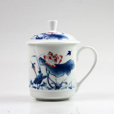 """Chinesische Teetasse """"Roter Lotus"""""""