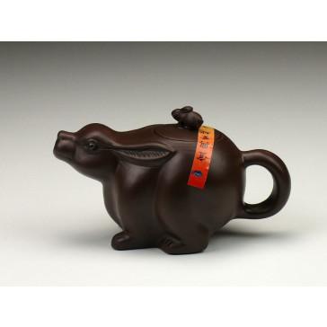 """Yixing Teekanne """"Chinesische Tierkreiszeichen – Der Hase"""""""