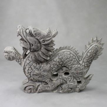 Chinesischer Drache Long Steinskulptur groß