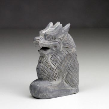 Chinesischer Drache, Steinfigur Drache, Glücksdrache