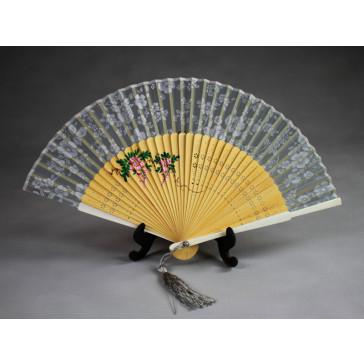 """Chinesischer Taschenfächer """"Blütenpracht"""", Handfächer"""