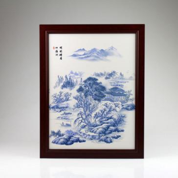 Chinesisches Wandbild Porzellan, Malerei auf Porzellan Fliese