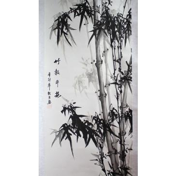 """Chinesisches Rollbild """"Bambusstrauch"""""""