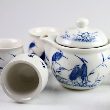 Chinesische Teekanne, chinesische Teetasse (doppelwandig)