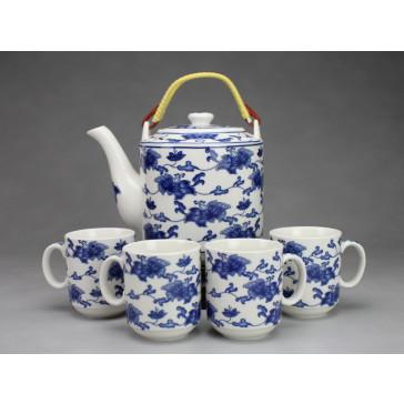 """Chinesisches Teeservice aus Porzellan """"Kaiserliches Blumenornament"""""""
