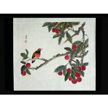 """Chinesische Tuschezeichnung """"Reiche Natur"""""""