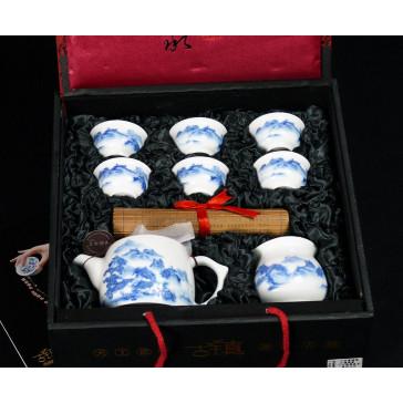"""Chinesisches Teeservice """"Malerische Landschaft"""" Manufaktur Guzhen"""