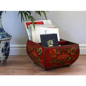 """China Möbel """"Südchinesisches Reismaß"""", rot"""
