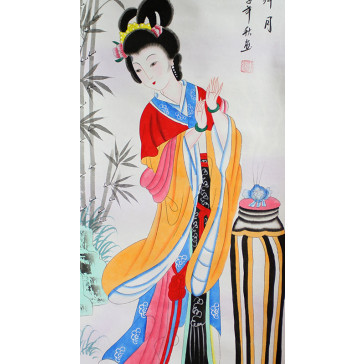 """Japanisches Rollbild """"Diao Chan"""""""