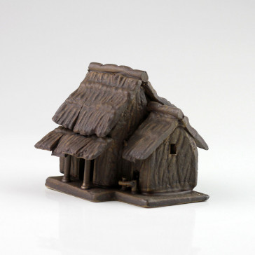 """Keramik-Figur """"Große Bambushütte"""", asiatische Bonsai-Deko"""