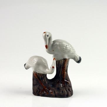 """Feng Shui Keramikfigur """"Kranichpaar"""", Teich-Deko"""