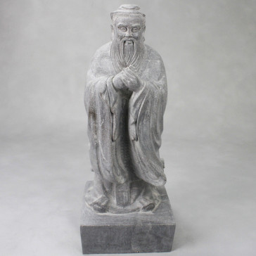 Konfuzius Statue Stein groß - Kong Fu Zi