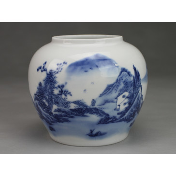 "Mini Vase Porzellan ""Dorf am Berg"" Väschen Keramik"