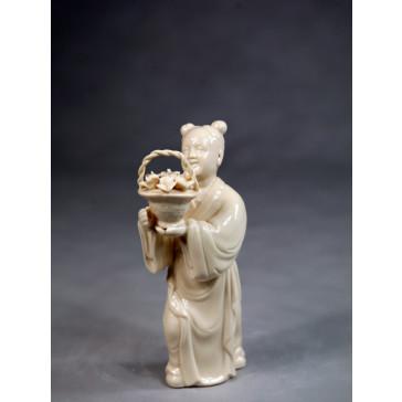 """Klassische Porzellanfigur """"Die Acht Unsterblichen - Lan Caihe"""""""
