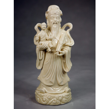 Porzellanfigur Lu Xing Feng Shui Glücksgott
