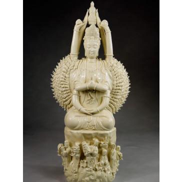 """Blanc-de-Chine """"Avalokiteshvara mit Tausend Armen"""""""