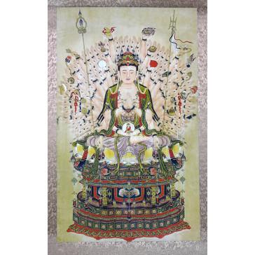"Rollbild ""Avalokiteshvara mit Tausend Armen"""