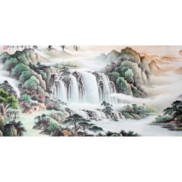 """Rollbild, chinesische Malerei """"Wasserfall"""""""