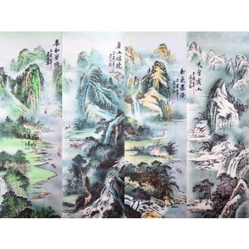 """Rollbilder-Set """"Vier Landschaften"""" (groß)"""