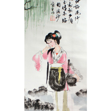 "Chinesische Bildrolle ""Xi Shi"""