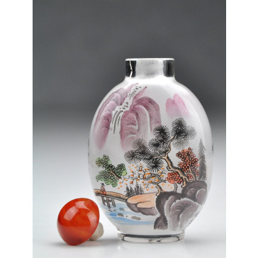 "Snuff Bottle ""Idylle am Bergsee"""