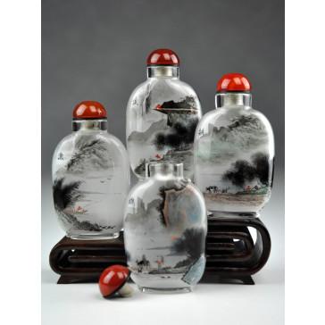 "Snuff Bottle Komposition ""Vier Seen"""