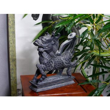 """Steinfiguren """"Qilin"""", Ming-Dynastie (linksgewandt)"""
