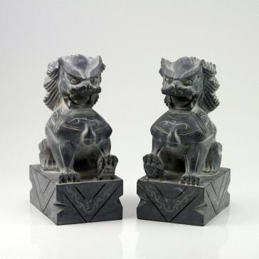 Fu-Dogs Steinfiguren, Tempelwächter Paar