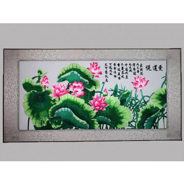 """Stickbild Chinesische Blumen """"Lotosblueten"""""""