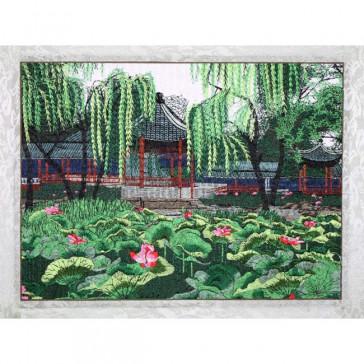"Stickbild ""Lotus am Xi See"""