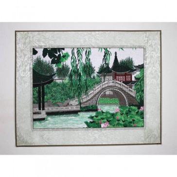 "Stickbild ""Bogenbrücke"""